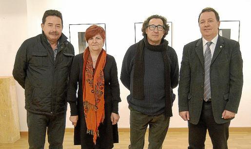 Antonio Cabello, Teresa Castell, Joan Forteza y Rafel Torres,durante la inauguración.