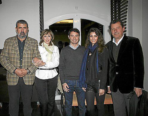 Colau Ballester, Cati Fullana, Lorenzo Ferrer y Carolina y Gaspar Ballester.