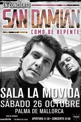 La Movida acoge el concierto de los hermanos mallorquines que conforman la banda San Damián.