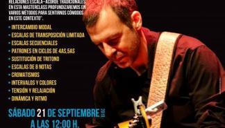 Master class de guitarra con Israel Sandoval en Es Gremi