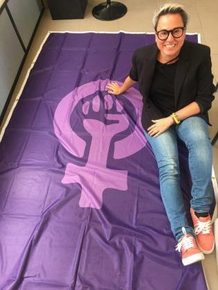 La edil de Podemos dice que «el feminismo ha entrado en el Ayuntamiento».