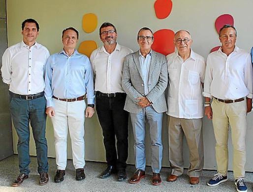 Rodrigo Romero, Maxo Benala, Jesús Mullor, Juan Pedro Yllanes, Tomeu Català y Osvaldo Cifre.