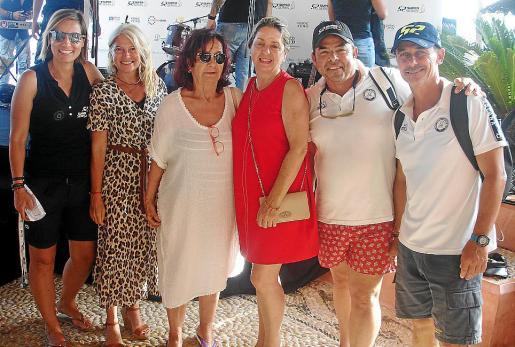 Eva Pizá, Kety Sierra, Encarna Delgado, Alicia Polo, Alberto González y Sebastián Oliver.