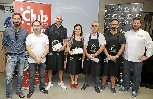 Entrega de premios del concurso 'Un chef en casa', en salón de actos de la planta impresora Son Valentí.