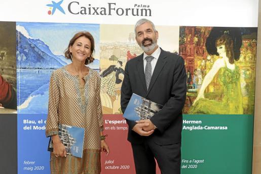 Margarita Pérez-Villegas e Ignasi Miró, este martes en Palma.