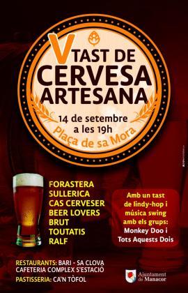 Cartel de la V Edición del Tast de Cervesa Artesana de Manacor.