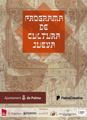 Cartel del programa de Cultura Judía 2019 con actividades gratuitas.