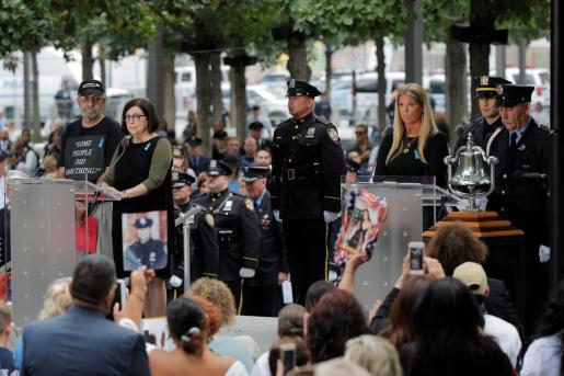 Momento de uno de los homenajes en recuerdo de las víctimas del 11-S.