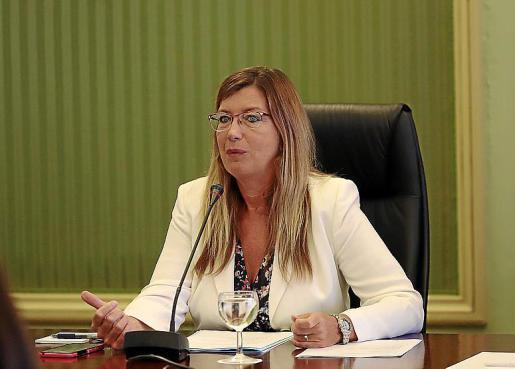La consellera de Salut, Patricia Gómez, este miércoles en el Parlament.        FOTO: BOTA