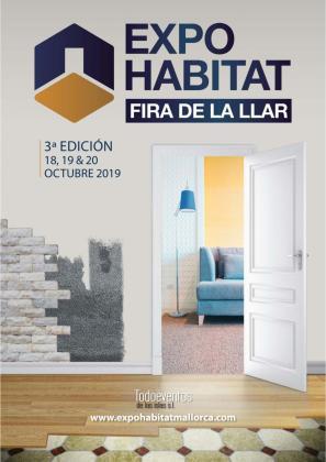 Cartel de Expohabitat 2019, que se celebra del 18 al 20 de octubre en el Velòdrom Illes Balears.