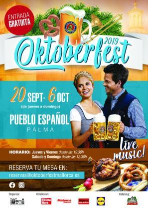 Cartel de la 9a edición de Oktoberfest en Mallorca.