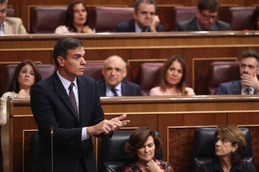 El presidente del Gobierno en funciones, Pedro Sánchez, líder del PSOE.