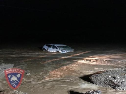 Una imagen de las inundaciones en Almería.