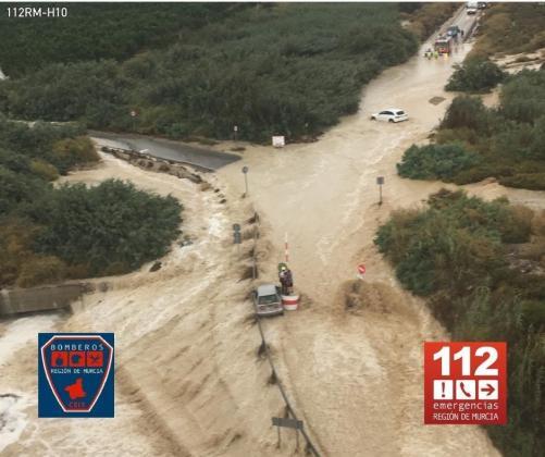 Imagen de las inundaciones de Murcia.