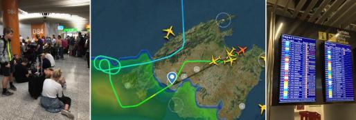 La DANA ha obligado a cerrar el aeropuerto de Palma durante, aproximadamente, una hora.