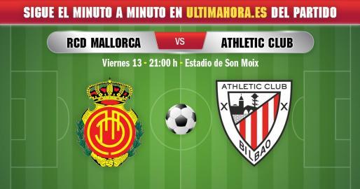 El Real Mallorca se enfrenta este viernes al Athletic Club en Son Moix.