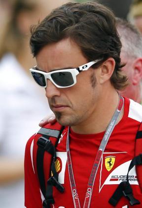 El piloto español de Fórmula Uno Fernando Alonso, de la escudería Ferrari.