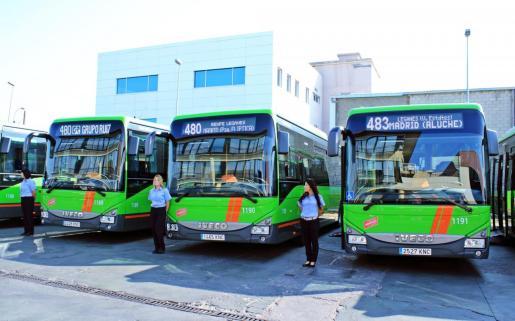 Imagen de autocares de la Empresa Ruiz que en la actualidad trabaja en el área de Madrid.