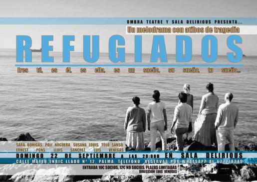 'Refugiados' se estrena en la Sala Delirious de la mano de Ombra Teatre.