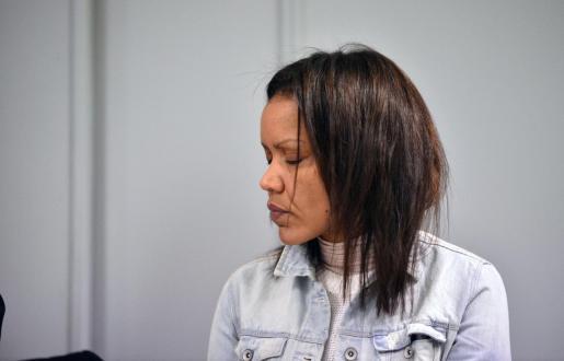 Ana Julia Quezada, autora confesa de la muerte del pequeño Gabriel Cruz, sentada en la sala de la Audiencia Provincial de Almería.