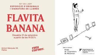 Exposición y firma de libros en Rata Corner con Flavita Banana