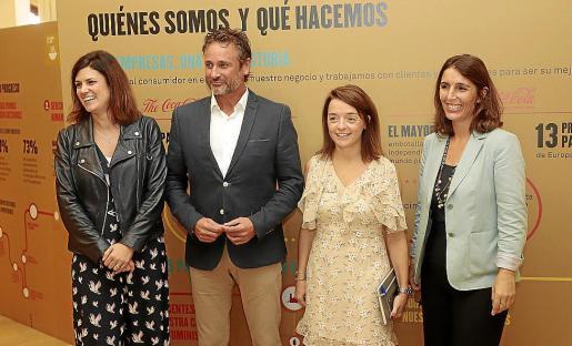 El evento contó con cuatro responsables de Coca-Cola European Partners Iberia: Beatriz Arribas, responsable de Proyectos de Sostenibilidad; Gabriel Mulet, responsable de Comunicación en Baleares; Igone Bartumeu, gerente de Comunicación, y Carmen Gómez-Acebo, directora de Responsabilidad Corporativa.