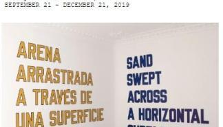La Galería Horrach Sadrassana inaugura esta Nit de l'Art 2019 la exposición de Lawrence Weiner