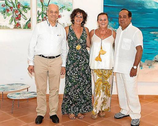 Bartolomé Oliver, Lourdes Crespí, Marga Vicens y Pep Canyelles.