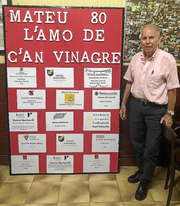 Mateu Martorell, del Bar España, cumple 80 años.