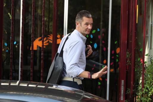 Iñaki Urdangarin, a su llegada al Hogar Don Orione de Pozuelo de Alarcón (Madrid).