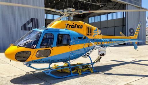 El helicóptero Pegasus de la Dirección General de Tráfico.