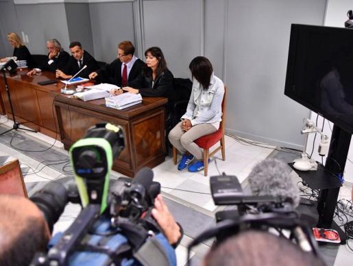 Ana Julia Quezada, autora confesa de la muerte del niño Gabriel Cruz, durante el juicio.