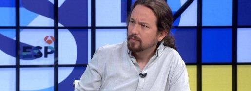 Pablo Iglesias, durante la entrevista en Espejo Público.