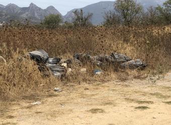 Basuras y escombros en zonas públicas