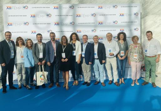 Imagen de los socialistas que han participado en el XII Plenario de la Federación Española de Municipios y Provincias (FEMP).