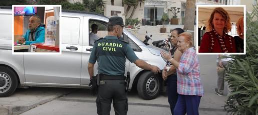 Los vecinos de la zona se han acercado hasta el cordón de la Guardia Civil tras conocer el asesinato de Ika Hoffmann.
