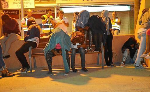 Imagen de una redada en Playa de Palma por robos y prostitución.
