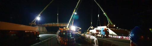Este martes se realizará la prueba de carga del nuevo puente de acceso en Lloseta.