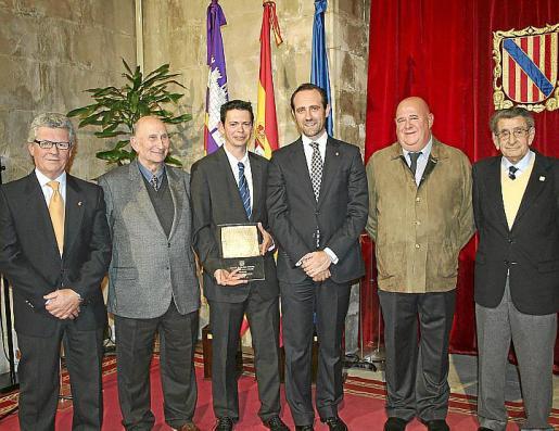 Joan Seguí, Rafel Muntaner, Joan Llaneras, José Ramón Bauzá, Joan Mas y Antoni Pujol.