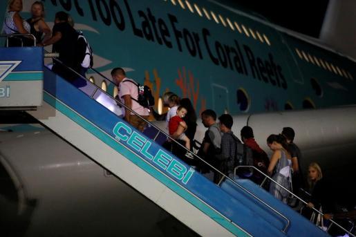 Turistas británicos, repatriados desde Turquía.