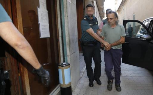 Celestino Rodríguez, a su llegada a los juzgados de Manacor.