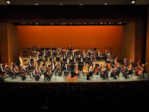 Imagen de la Orquestra Simfònica de les Illes Baleares, durante un concierto en el Auditórium de Palma.