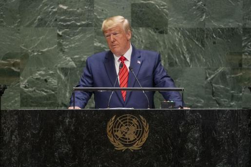 Donald Trump en su intervención en las Naciones Unidas.