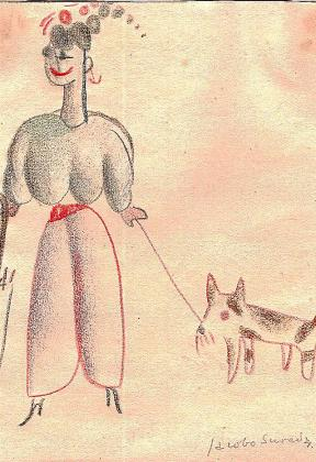 Algunos de los dibujos de Jacobo Sureda que forman parte del libro que se presenta el día 30.