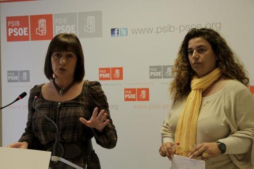 Francina Armengol y Pilar Costa han ofrecido esta mañana una rueda de prensa.