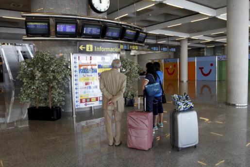 Imagen del aeropuerto de Palma durante la última huelga general, celebrada en septiembre de 2010.
