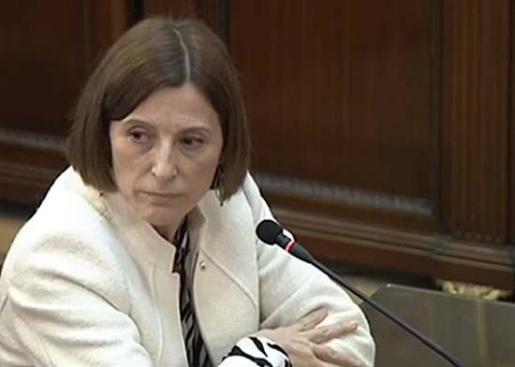 La expresidenta del Parlament Carme Forcadell declarando en el Supremo.