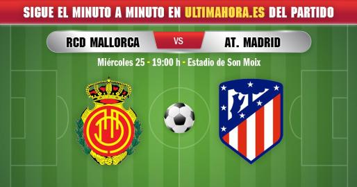 El Mallorca recibe en su estadio a un Atlético de Madrid que quiere confirmarse como alternativa a los dos grandes de la Liga.