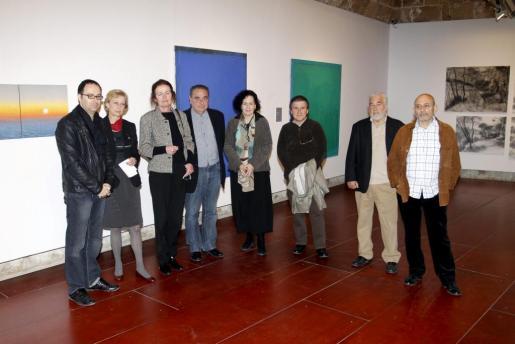 Imagen de la presentación de la exposición «Davant l'abisme», celebrada esta mañana.