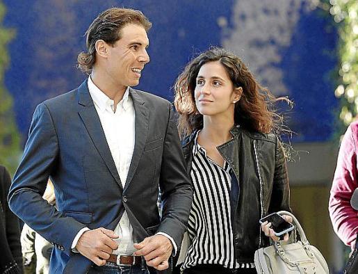 Rafa Nadal y su novia, Maria Francisca Perelló.